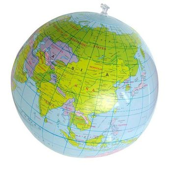DCCKU7Q Hot Inflatable Globe ball Geography Map Educational Toy Balloon Beach Ball 40cm Geography Toy Education toys for children