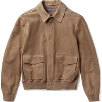 Ralph Lauren Purple Label - Henfield Suede Aviator Jacket
