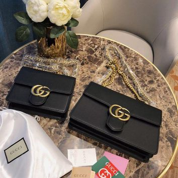 Gucci Gg Leather Shoulder Bag #1291
