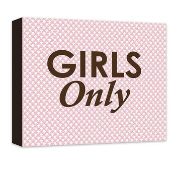 Girls Only Canvas Wall Art