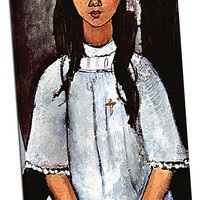 Alice by Modigliani Mirror Wrapped Canvas on 1 1/2-inch Stretcher Bars