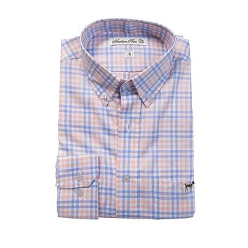 The Hadley Shirt in Sherbert Tattersall by Southern Point Co.