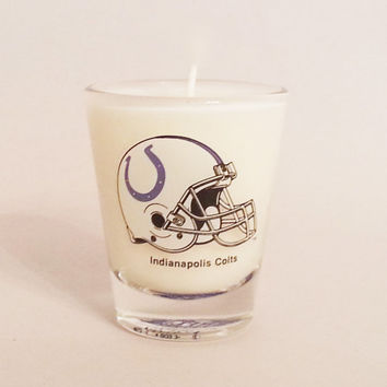 Indianapolis Colts Candle - Soy Shot Glass Candle - CHOICE OF SCENT