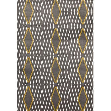 2923 Yellow-Gray Contemporary Area Rugs