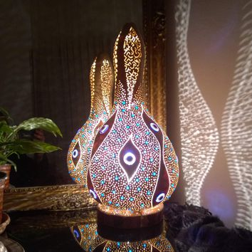 Gourd Lamp 16 Home Decor Ambient Lighting Ottoman Turkish Oriental Bohemian Unique Lights Boho Chandelier Light Art Deco Gothic Christmas Gift