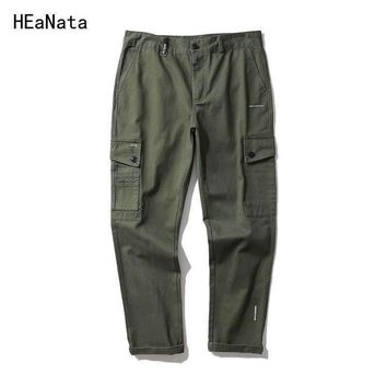 Europe Men's Trousers Spring Casual Ourwear Men Full Pants Fashion Sweatpants Mens Work Pants Army Camouflage Cargo Pants 2018