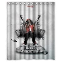 YMCMB Lil Wayne Young Money Best Quality Shower Curtain Size 60x72 Inch