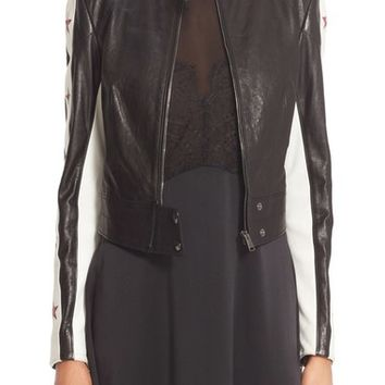 Belstaff Staithes Star Embellished Leather Jacket | Nordstrom