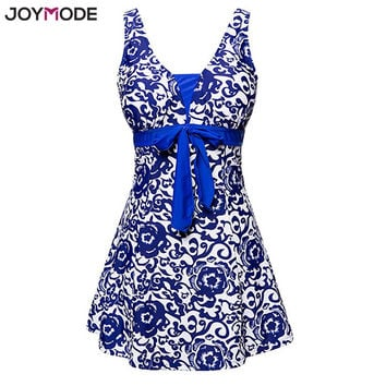 JOYMODE 2017 Newest One Piece Swimsuit Push Up A Line Beach Wear Retro Floral Printed Women Swimwear Plus Size 3XL 4XL