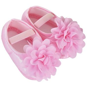 Baby Girl Chiffon Flower Shoes