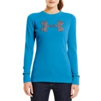 Under Armour Women's Waffle Tackle Twill Long Sleeve Crew