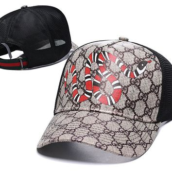 Womens Mens Snake GG Hat Gucci Baseball Cap High-quality
