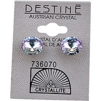 Destine Austrian Crystal VL Rivoli Post Earrings