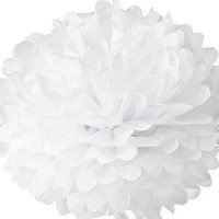 Snow White Tissue Pom-Pom Pouf
