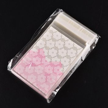 100pcs self-adhesive candy bag gift bags flower lace bow Clip Holder Bags Desk Organizer