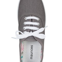 cyrel lace-up canvas sneaker in gray