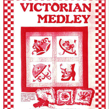 Victorian Medley Quilt and Pillow Pattern from Leman Publications, From 1984, UNCUT, Basic Quilt Lesson, Vintage Pattern, Home Quilt Making