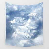 Mountains & clouds Wall Tapestry by Viviana Gonzalez