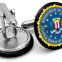 FBI Federal Bureau Investigation Cufflinks