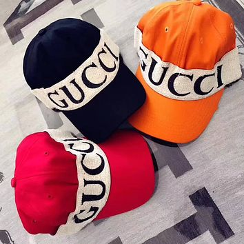 GUCCI Baseball Hat With Gucci Headband - (3 colors)