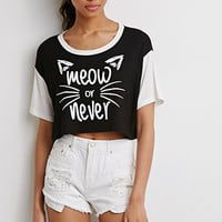 Meow Or Never Crop Tee