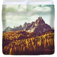 Pine Tree Line - Duvet Cover