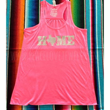 Home Texas tank (Silver) from PeaceLove&Jewels