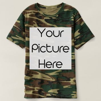 Create Your Own Custom Men's Camouflage T-Shirt