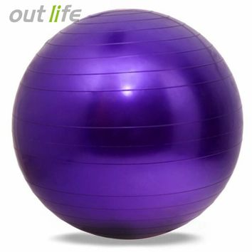 Outlife 65cm PVC Pilates Fitness Home Gym Equipment Accessories Yoga Workout Fitness Ball For Sport Training Exercise Gymnastic