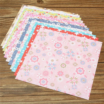 Fashion Floral Pattern DIY Kids Origami Paper Scrapbooking Decoration Background Handmake Paper Crafts Gifts Pattern Randomly
