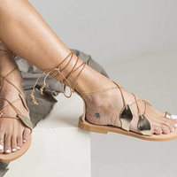 """Delicate gladiator style shoes """"Leilani"""" with authentic leather and design. Perfect for your feet on your vacation! Women gladiators style"""