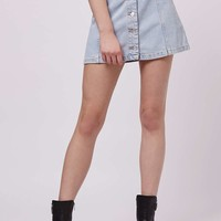 MOTO Button Through Skirt - Topshop