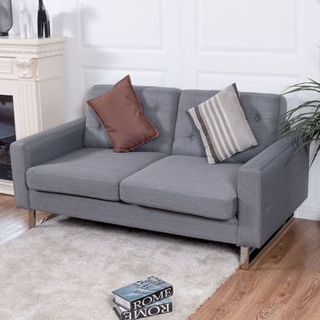 Giantex 2 Seat Sofa Couch Loveseat
