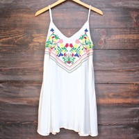 FINAL SALE - beach day dress - white