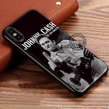 Johnny Cash iPhone X 8 7 Plus 6s Cases Samsung Galaxy S8 Plus S7 edge NOTE 8 Covers #iphoneX #SamsungS8
