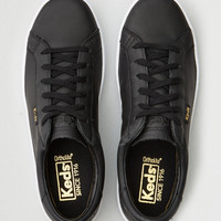 KEDS ACE LTT LEATHER SNEAKER, Black
