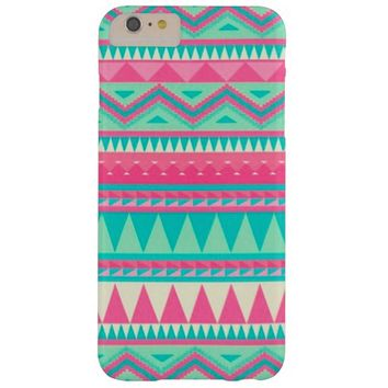 Colorful Aztec Chevron Zig Zag Stripe Pattern Barely There iPhone 6 Plus Case
