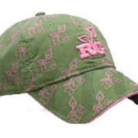 The Game's Realtree Girl Logo Cap - Olive Green/Pink