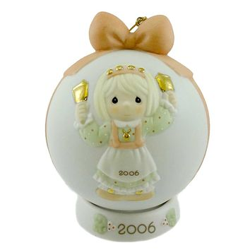 Precious Moments Ringing In The Season Ball Ornament Resin Ornament