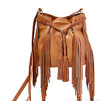 Big Buddha Fringe Benefits Belted Crossbody Bag
