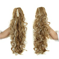 """20"""" Long Claw Clip Drawstring Ponytail Fake Hair Extensions False Hair Pony Tails Horse Tress Curly Synthetic Hairpieces Pieces"""
