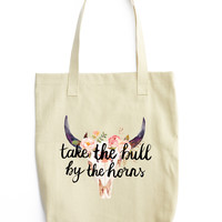 Take The Bull By The Horns Tote