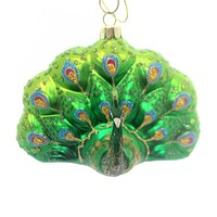 Holiday Ornaments Peacock Ornament Glass Ornament