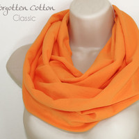 Scarf Orange Infinity Light Tangerine Tango Summer