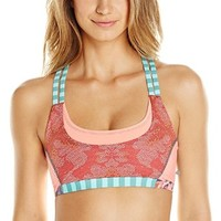 Maaji Women's Raceback Royalty Sports Bra, Multi Color, Small