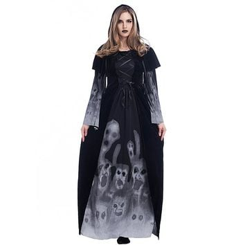 Halloween Noble Queen Vampire Costume For Women Gothic Masquerade Party Fancy Dresses Halloween Devil Costumes