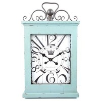 Large Antique Turquoise Metal & Wood Wall Clock | Shop Hobby Lobby