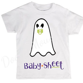 Baby sheet toddler and kids shirt, Halloween, ghost, crazy, holiday pun, pun, halloween costume, joke, funny shirt, bad joke, toddler, child