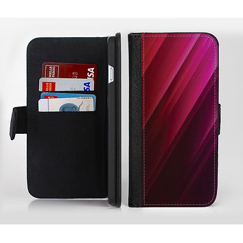 The Neon Slanted HD Strands Ink-Fuzed Leather Folding Wallet Credit-Card Case for the Apple iPhone 6/6s, 6/6s Plus, 5/5s and 5c