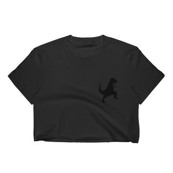 Women's Crop Top xs Dino Tee